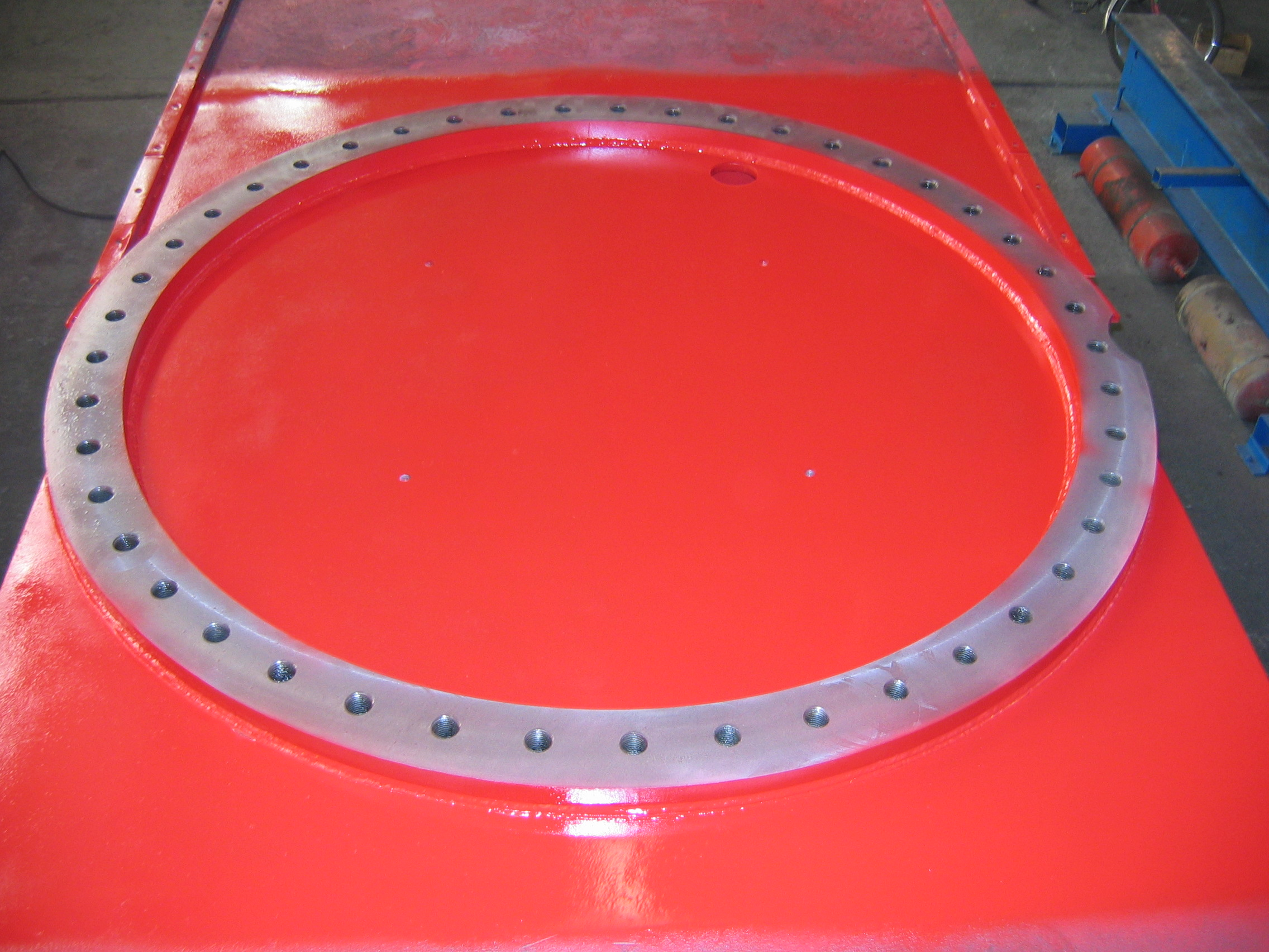 Link-Belt HC238A Deckplate & Bearing Ring Repair